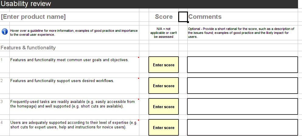 usability study template - conducting heuristic evaluation usability testing